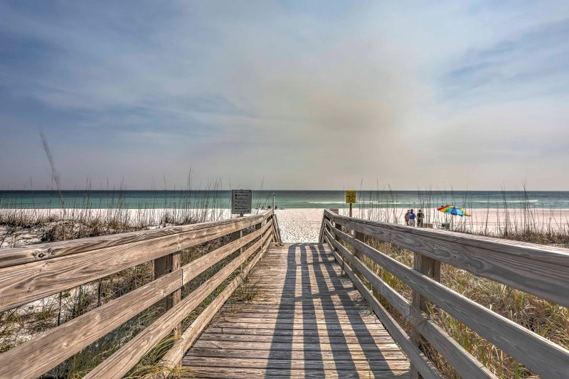 Escape to Pensacola Beach when you stay at this 2-bedroom vacation rental condo.