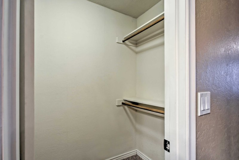 The walk-in closet offers plenty of space!
