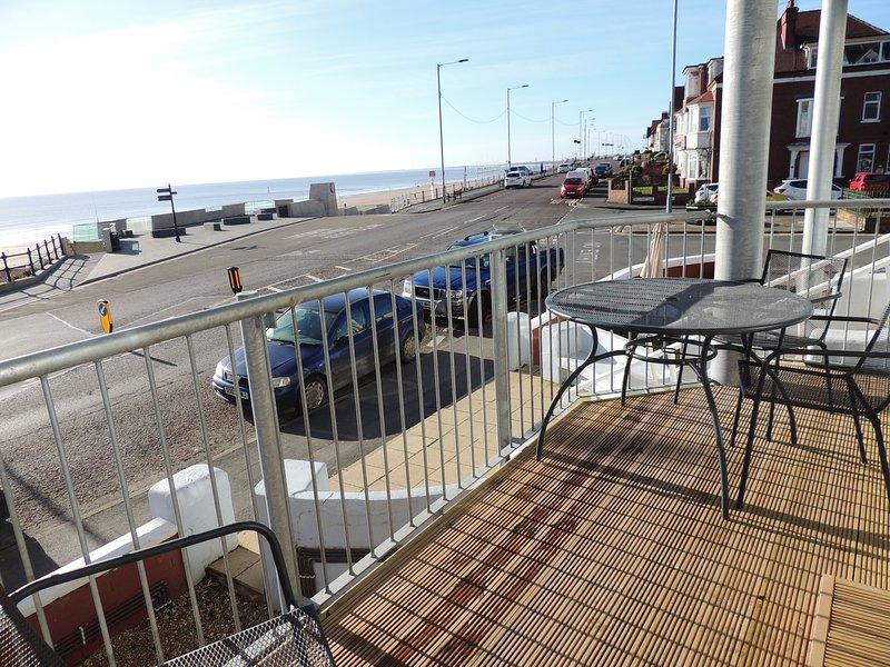 balcon privé avec une vue magnifique sur la mer