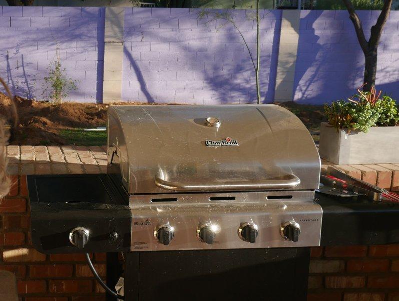 grill a gas propano.