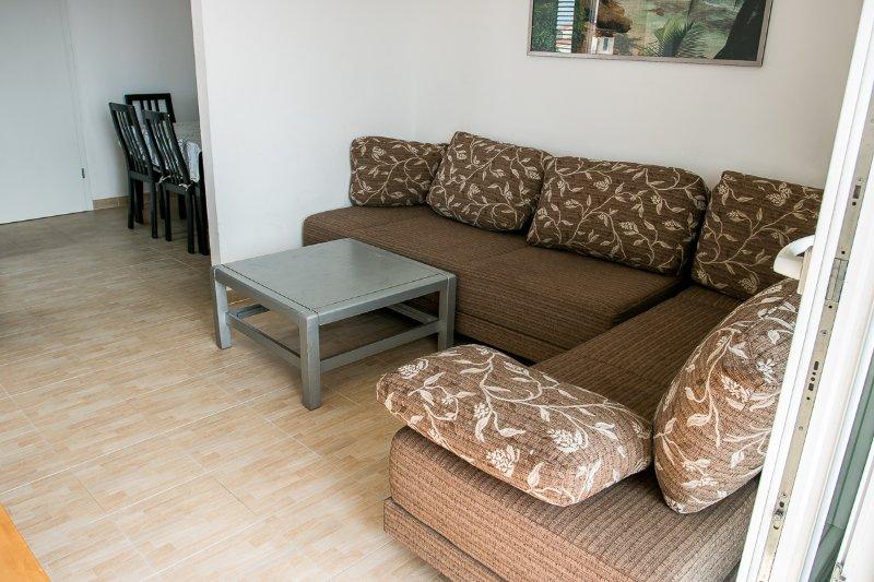 Sofa bed in de woonkamer