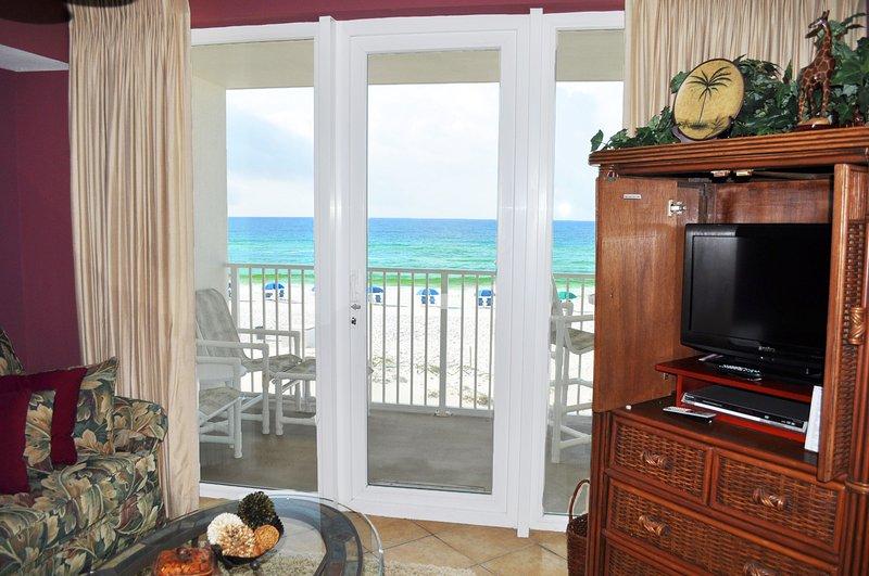 Living Room Sea Dunes Resort Unit 202 Fort Walton Beach Okaloosa Island vakantie-verhuur