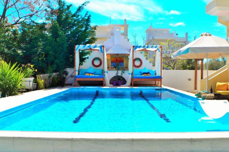 Discover Loutraki: sun, leisure, pool, sea, city spa, casino, holiday rental in Isthmia