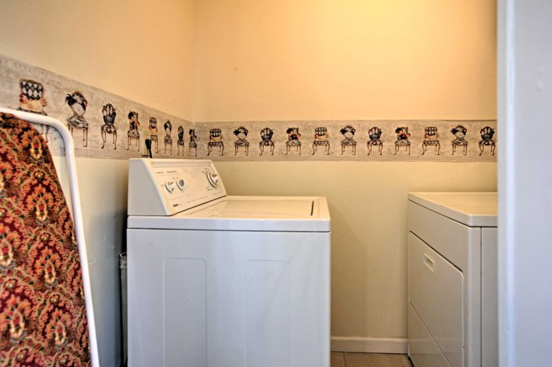 You'll love having in-unit laundry machines for you to use throughout your stay.