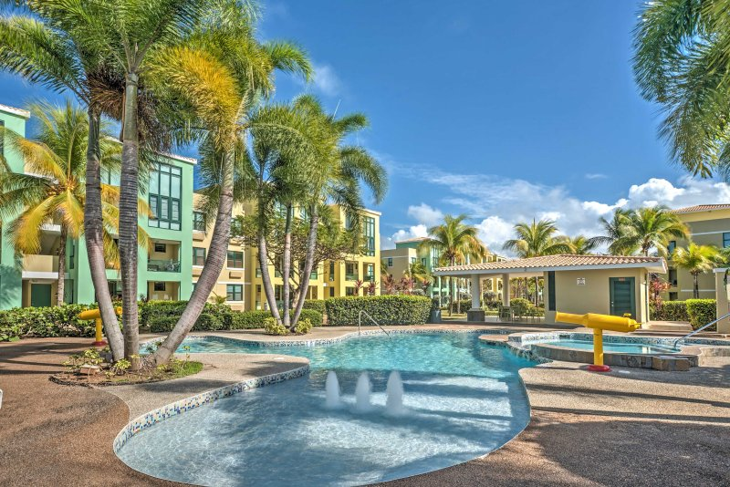 You'll love splashing around in one of the 5 pools at this 3-bedroom Loiza vacation rental condo!