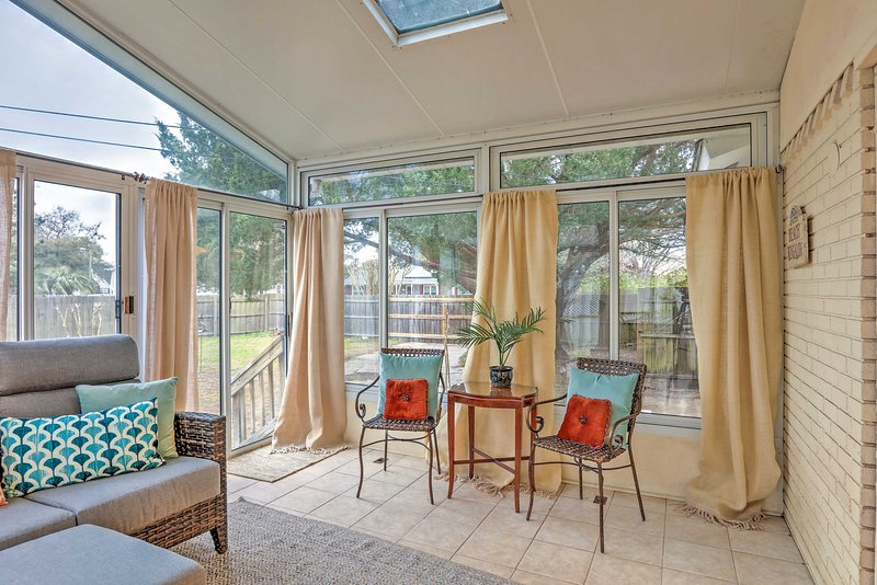 Look forward to sipping your morning coffee on the newly refurbished sunroom.
