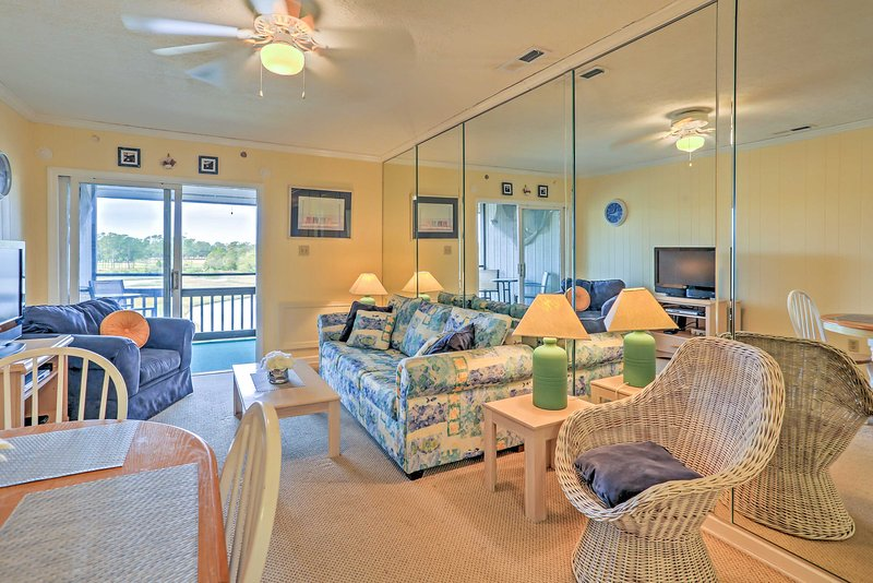 Walk a few steps to the beach when you stay at this vacation rental condo!