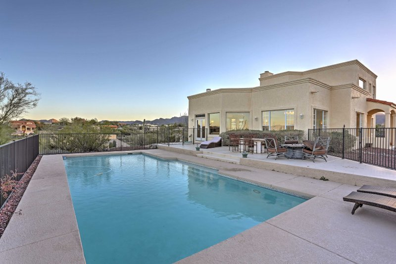 Live the life of luxury when you stay at this 3-bedroom, 2-bathroom vacation rental home in Tucson.