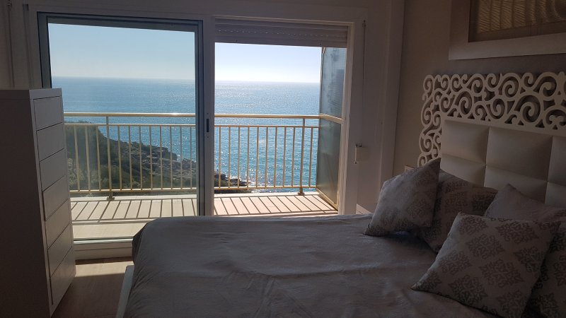 Views from the room, and it is wonderful to hear the sound of the sea