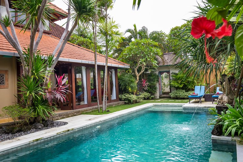 beachside villa with 3 bedrooms and authentic bali design, we love to hosting you soon :)