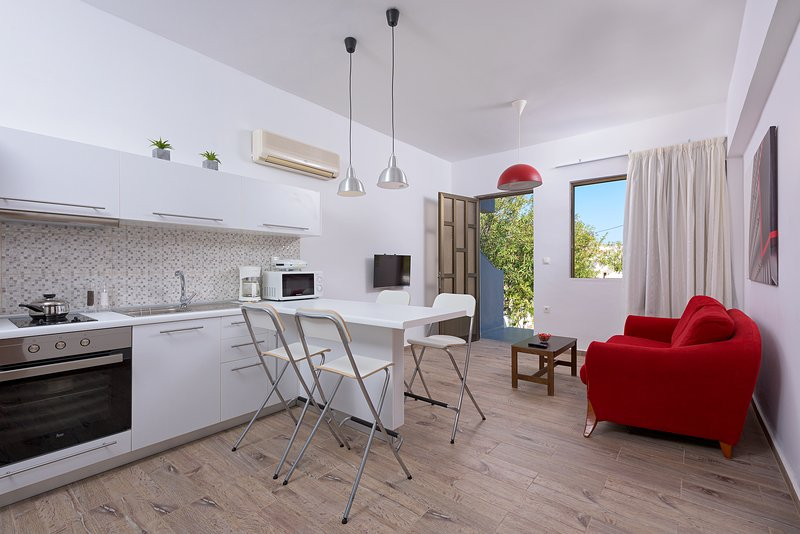 'Rodania Spring' Two bedroom apt with private backyard, holiday rental in Ladiko