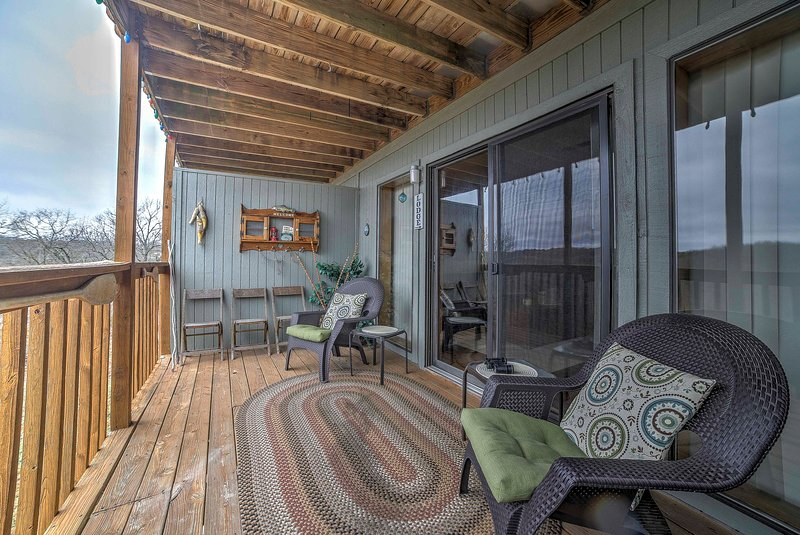 Enjoy incredible views from the private deck.