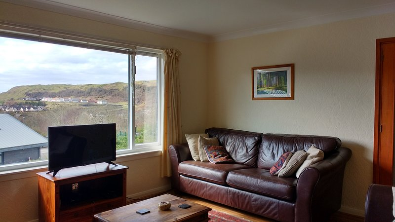Smart TV. Great views of glen from living / dining room.