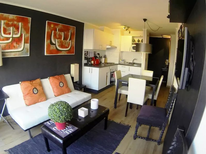A2 Nice, cozy, stylish, 2D 2B subway front door, vakantiewoning in Pudahuel