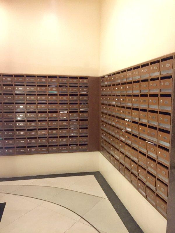 Salle de courrier pour les propriétaires de l'unité et l'utilisation des locataires