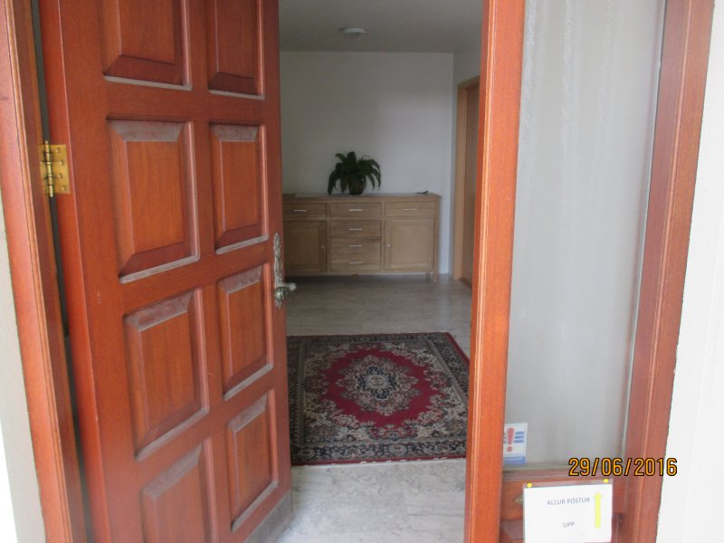Outer door from parking space