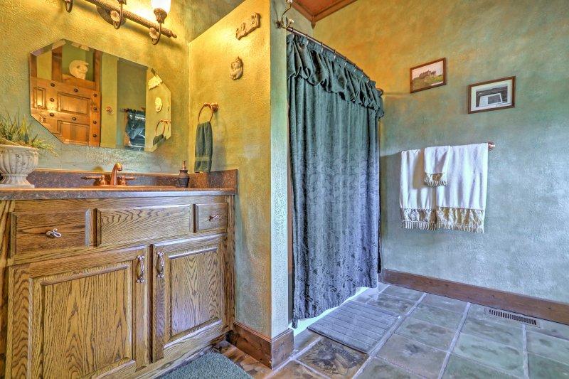 Each  bedroom has an ensuite bathroom.