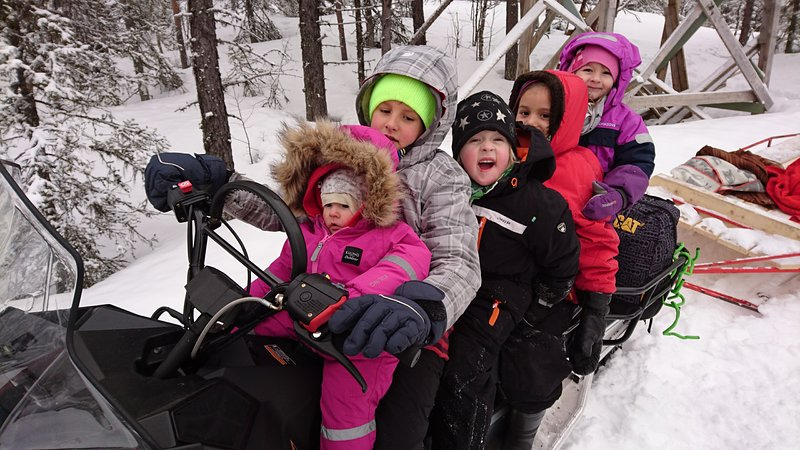 Our snowmobile tours are popular