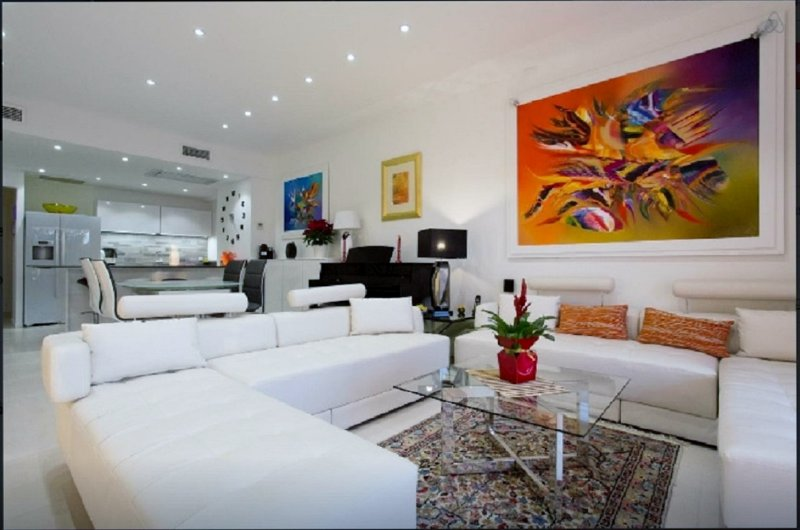 superb apartment with terrace 110m² 3 rooms, on the Croisette facing the sea, vacation rental in Cannes