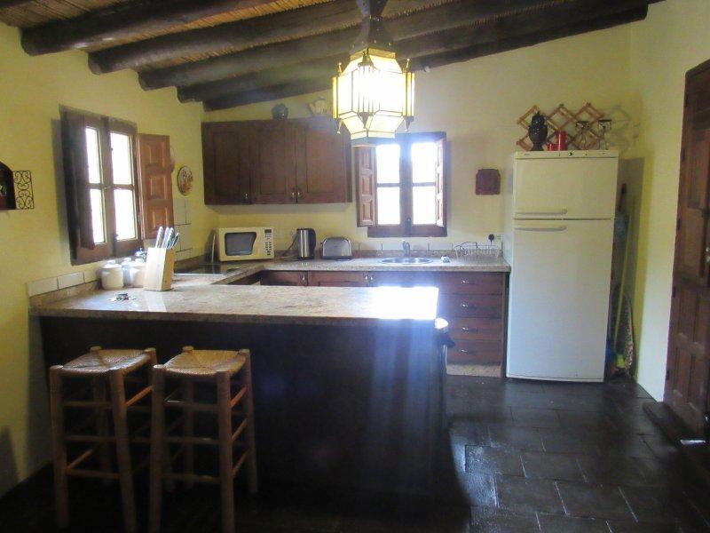 Kitchen, with dishwasher, oven, hob, fridge/freezer, washing machine...