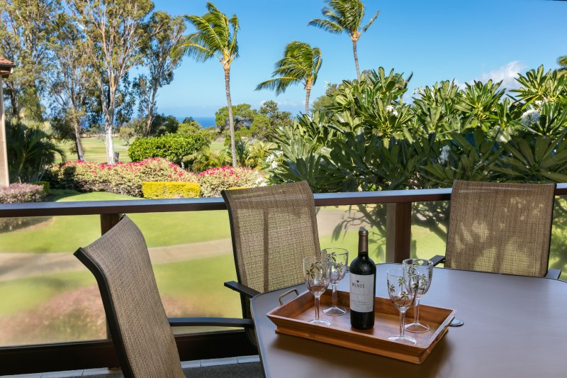 Lanai with Golf Course and Ocean Views