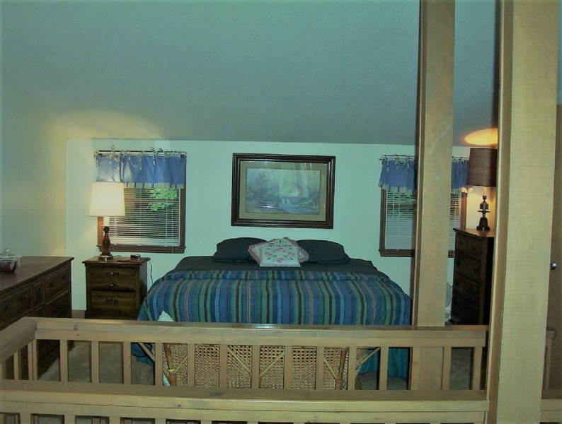 Shared upper bedroom with king bed