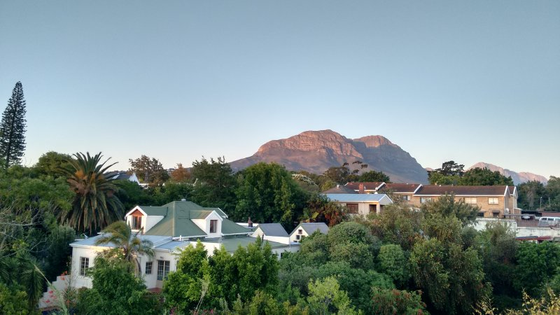 Roof terrace with views of the Helderberg