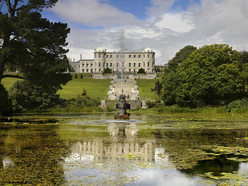 Powerscourt House and world renowned gardens. (15 mins away)