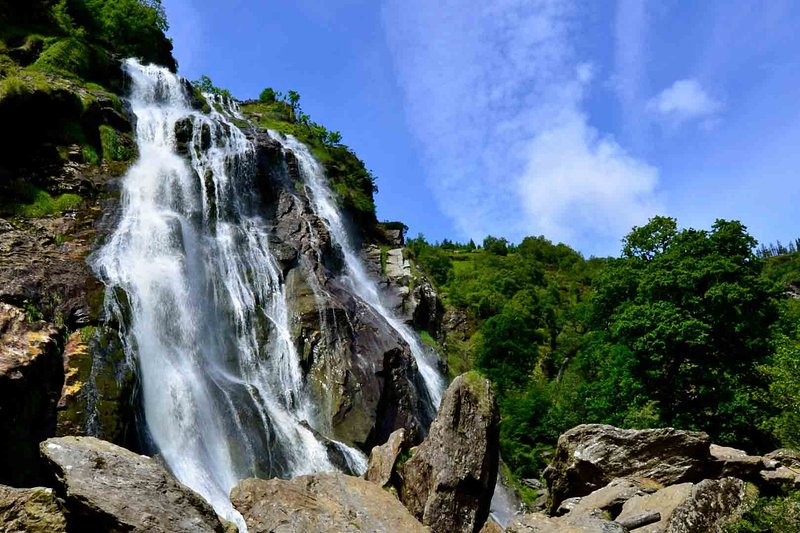 Powerscourt waterfall, the highest waterfall in Ireland at 400 mts. 15 mins. away