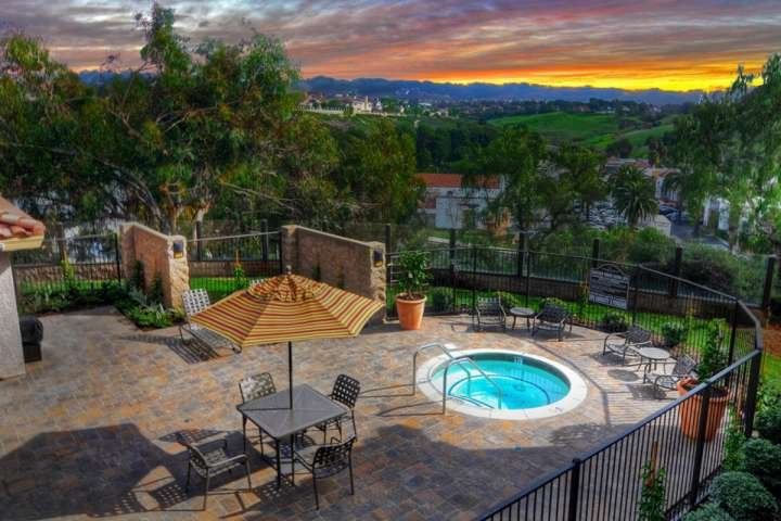 Sunset view from the ocean view jacuzzi at Monarch Hills