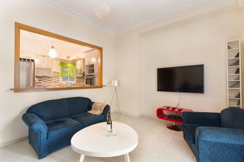 Sunny Floor Apartment 140m2 near Center, holiday rental in Nea Smirni