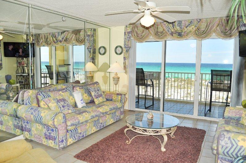 Sala de estar Gulf Dunes 217 Fort Walton Beach Florida Okaloosa Island Alquileres de vacaciones