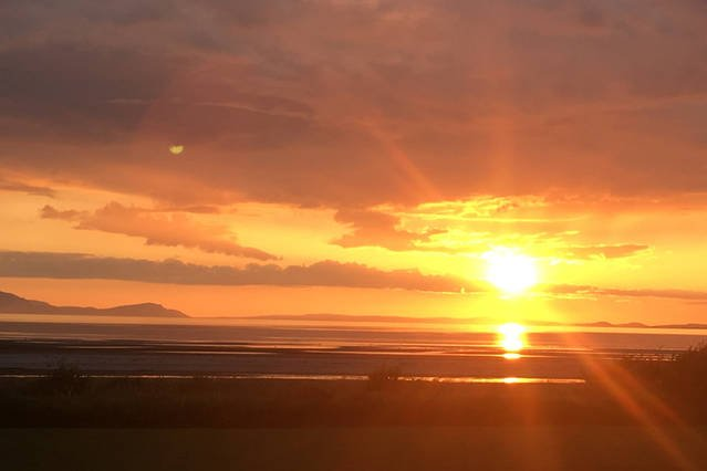 The view of the sunset over Arran, May bank holiday 2016