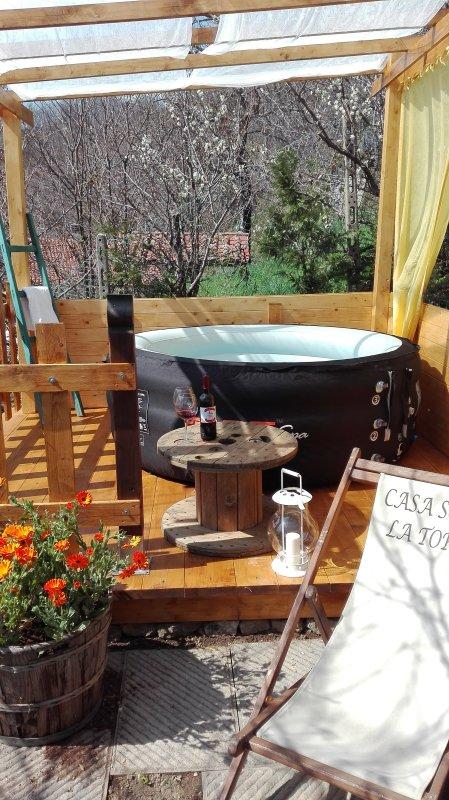 Private Bath Outside