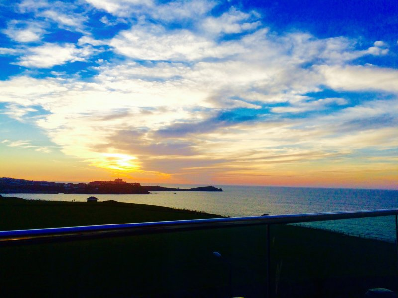 Enjoy the stunning sunsets over the bay, of an evening, from the balcony.