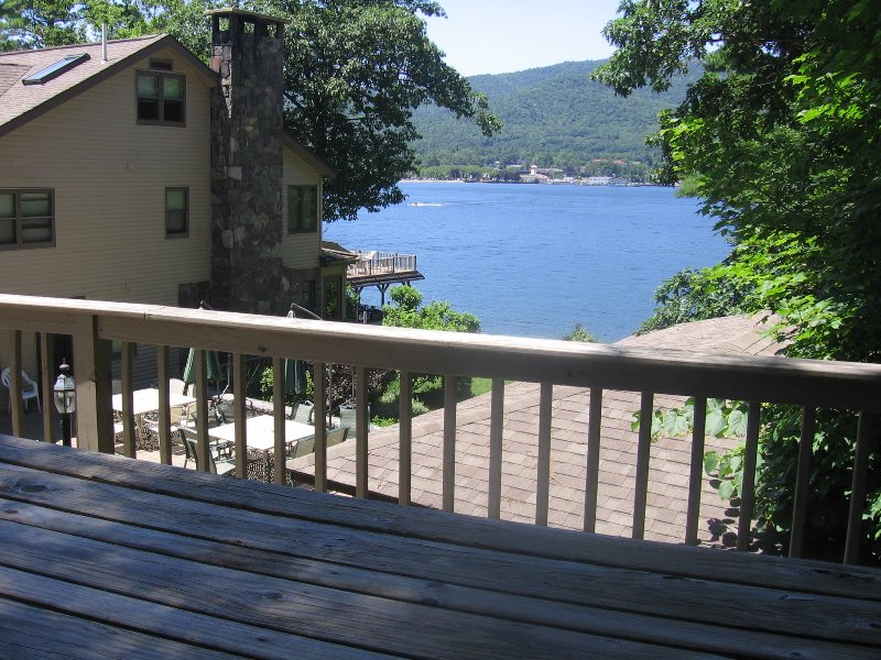 Beautiful view of the lake from the deck