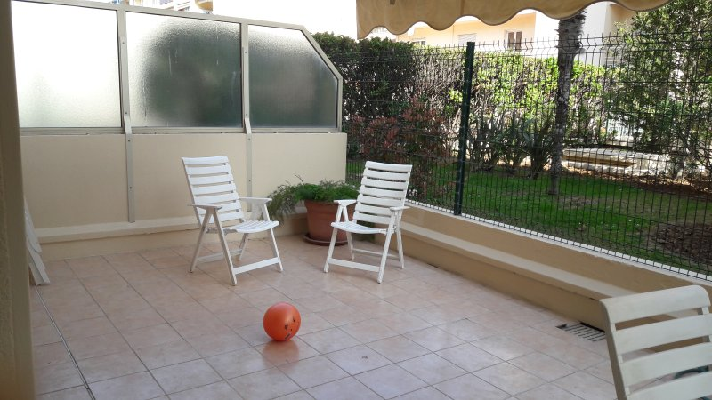 - Devant la terrasse, le jardin condo