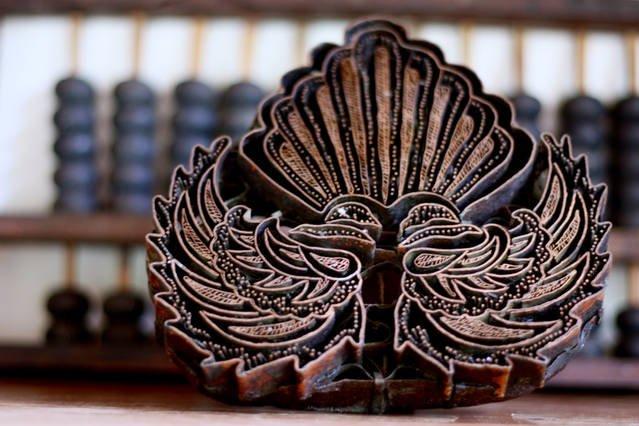 Tradizionale timbro batik