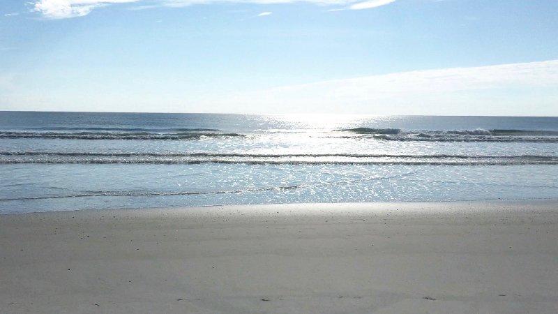 Saturday morning, high season on the private beach