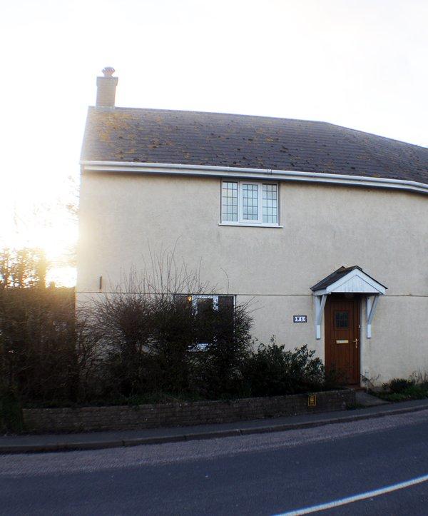 La parte anteriore della casa.