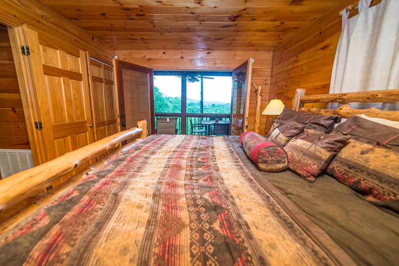 Master bedroom view of mountains