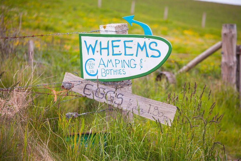 Wheems Camping Sign