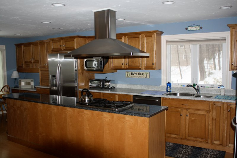 Large Kitchen with Granite and Stainless Steel