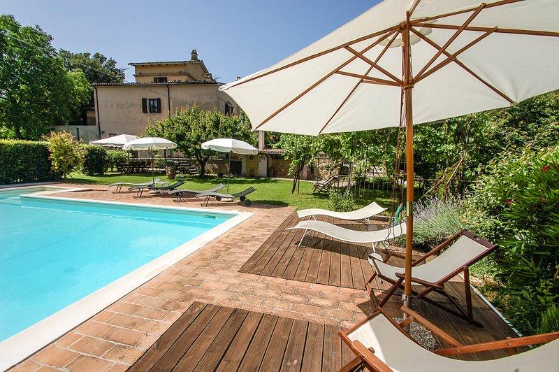 Detached villa with private pool near Todi/Spoleto, location de vacances à Macerino