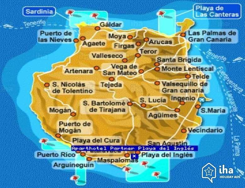 Mapa de Gran Canaria