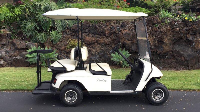 Questo carrello da golf a quattro posti è incluso nel noleggio!