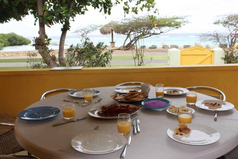 Breakfast overlooking the Caribbean anyone?