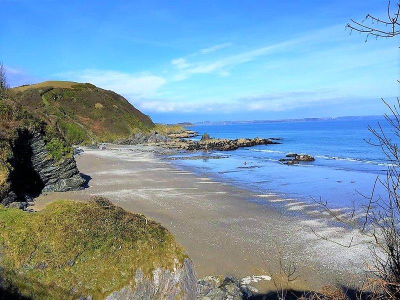 Polstreath playa, a sólo diez minutos a pie a lo largo del camino de la costa - perfecto para las comidas campestres