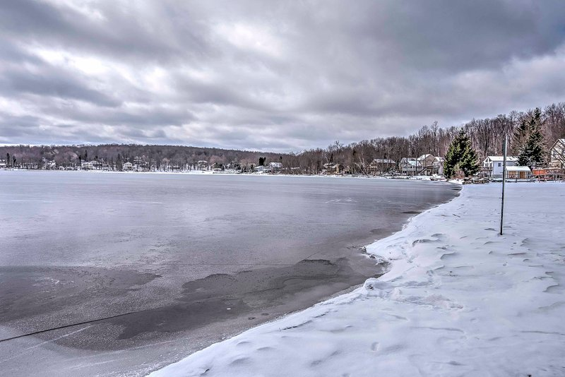 Ice fishing is a great winter activity!