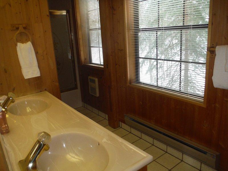 Bagno due lavandini di lavabo privato